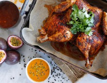 Roast Chicken with Peruvian Passionfruit Sauce