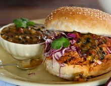 Pulled Pork Slider with Passionfruit Relish