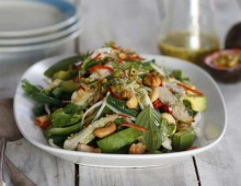 Thai Turkey Salad with Snake Beans and Passionfruit Dressing