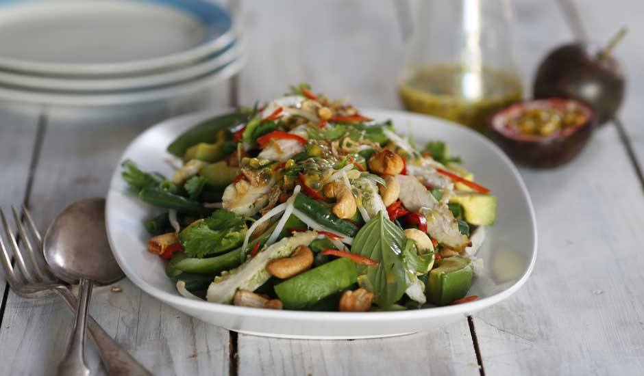 Thai-Turkey-Salad-with-snake-beans,-avocado-and-passionfruit-kaffir-lime-dressing