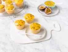 Passionfruit & Coconut Sponge Cupcakes