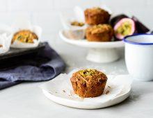 Passionfruit, Coconut & Quinoa Muffins