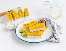 Passionfruit Vanilla Ice-block Bars